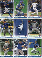 2019 Topps Series 2 Baseball Toronto Blue Jays Team Set of 9 Cards