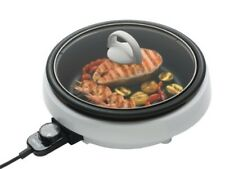 Aroma Housewares  ASP-137 3-Quart/10-inch 3-in-1 Super Pot with Grill Plate, Whi