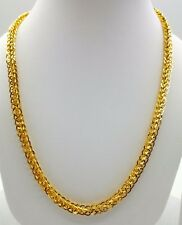 GOLD CHAIN 22K 916 HALLMARKED HOLLOW BROAD CHAIN PATTERN NEW PATTERN DURABLE