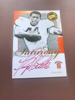 Press Pass Authentics Saturday Signatures: Floyd Little On Card Auto