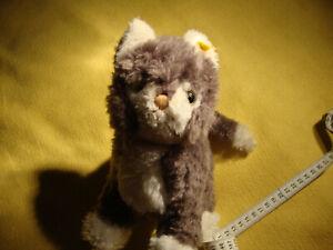Steiff Katze braun / weiss