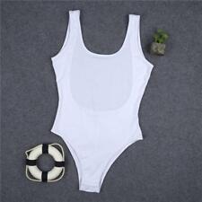 Summer Sleeveless Bodysuit Leotard Bodycon Bandage Jumpsuit Romper Top Blouse