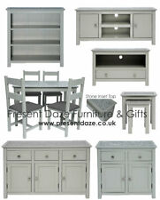 Perth Easy Build Grey & Natural Stone Living and Dining Furniture