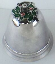 Wallace Silversmiths 1973 Collectible Christmas Bell with Poinsettias