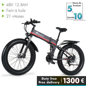 """VTT vélo électrique 26"""" 1000W de montagne Fat e-bike 48V 40km/h pliant bicycle"""