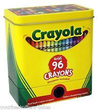 Crayola Crayons 96 The Tin Box Company Sharpener Creative Tools Art Supplies New