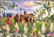 Buffalo Games Hautman Brothers Evening Meadow Used 1000 pc Jigsaw Puzzle