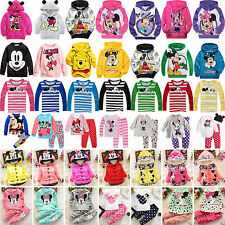 Toddler Kids Girls Minnie Mickey Mouse Long Sleeve Hoodie Jacket Coat Outfit Set