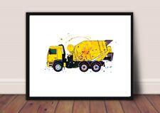 truck nursery picture a4 gloss Print gift UNFRAMED construction 1