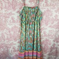 Lane Bryant Dress 26/28 Sheer Overlay Convertible Removable Straps Maxi