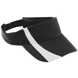 Augusta Sportswear Three Panels Adjustable Wicking Mesh Two Color Visor. 6260