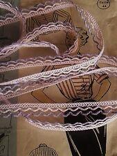 DENTELLE GAUVAIN ROSE PALE LILAS vendu par multiple de 3 mètres soit 0,40/ mètre
