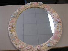 "Al Pisano Oval Mirror with seashells 25"" x 29"""