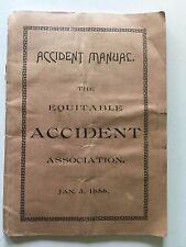 INSURANCE AGENTS MANUAL 1888 No Women No Baseball Player + List of Occupations