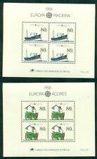 EUROPA 1988 Azores + Madeira Souvenir sheets NH, VF Scott $30.00