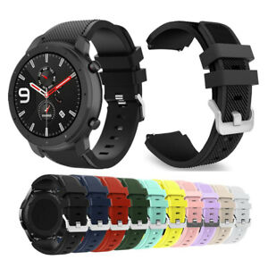 Quick Release Rugged Silicone Sport Watch Band Strap For Amazfit GTR 47mm