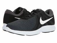 Nike Revolution 4 Running Shoes Black White Anthracite 908988-001 Men's NEW