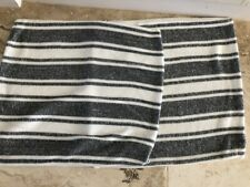 2x Country Road Dark Blue and White Striped Stretch Knit Cushions