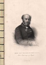 C1830 Géorgien Imprimé ~ Majeur Général The Comte De Lucan
