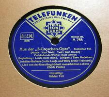 """Lenja u.a. """"Aus der 3 Groschen Oper"""" (Weill / Brecht) 7 & 8 Teil  TELEFUNKEN"""