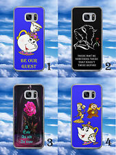BEAUTY AND THE BEAST/DISNEY/QUOTE/HARD PHONE CASE/COVER/SHELL FOR SAMSUNG MODELS