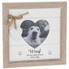 Provence Message Heart Photo Frame - Dog