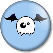 "Cute Monster 25mm 1"" Pin Button Badge Halloween Skull Ghost Bat Blue Emo Novelty"