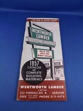 WENTWORTH LUMBER HAMILTON ONTARIO CATALOG 1957 BUILDING MATERIALS TOOLS CABINETS