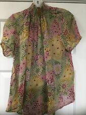 NEW Anthropologie Floral Chiffon Blouse Size XS Petite