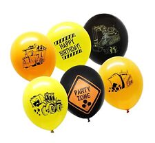 36 Construction Balloons Happy Birthday Party Supplies Site Themed Helium Latex