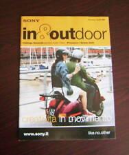 Catalogo Sony In & out door primavera estate 2005 depliant brochure tv lcd dvd