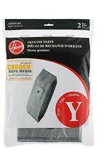 Hoover Type Y AH10165  Carbon HEPA Bags ,  2-Pack