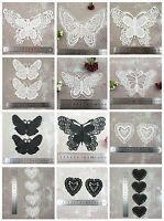 BUTTERFLY or HEART GUIPURE LACE APPLIQUES *12 STYLES & 2 COLOURS* HABERDASHERY