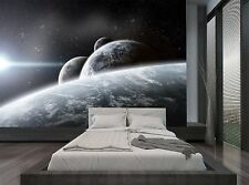 Black Blue Sky Planets Space Stars Wall Mural Photo Wallpaper GIANT WALL DECOR