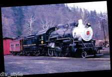Buffalo Creek & Gauley 2-8-0 steam locomotive #13 railroad postcard