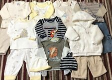 8x BABY BOYS DISNEY WINNIE THE POOH OUTFIT CLOTHES BUNDLE - 3-6 MONTHS - USED