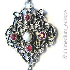 Historismus Silber Anhänger Granat paste silver pendant garnet paste 1880 Kette