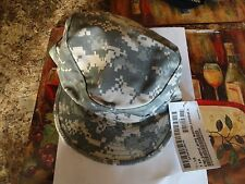 US ARMY MILITARY HAT DIGITAL ACU SIZE 7 1/8 PATROL CAP WITH PLACE FOR NAME ON BA