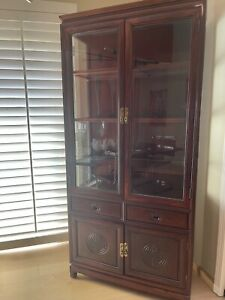 Rosewood China cabinet