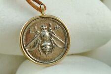 A.LeONDARAKIS Greek Coin Pendant, Ephesus, Goddess Artemis, Bee & Stag - 14K/925
