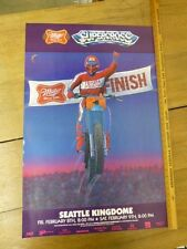 "ORIGINAL Vintage ""Supercross Seattle Kingdome "" Poster by McIntire 1985"