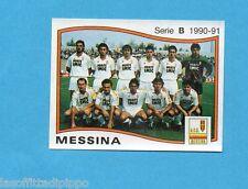 PANINI CALCIATORI 1990/91-Figurina n.415- SQUADRA - MESSINA -Rec