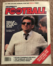 1987 Don Heinrich's College Football Season Preview Joe Paterno On Cover Ex+