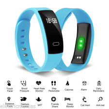 Bluetooth OLED Pulsera Reloj Inteligente Presión Arterial Sueño Fitness Tracker