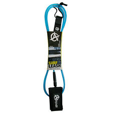 ANTICORP 6FT CL BLUE SURFBOARD LEASH LEG ROPE DBL SWIVL MADE IN TAIWAN NOT CHINA