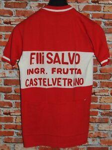 Shirt Bike Shirt Cycling Heroic Vintage 70'S Castelvetrano 50% Wool Embroidered