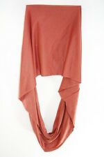 PLAIN CORAL PINK MINIMALISTIC STATEMENT CHIC INSPIRED INFINTY SCARF(MS41PT5)