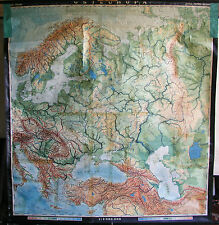 Schulwandkarte Map Eastern Europe Poland Russia Scandinavia 200x210cm 1954