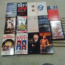 14 CONCERT ROCK VHS BEATLES,U2,KISS,SPRINGSTEEN,PET SHOP BOYS,QUEENSRYCHE+ELTON