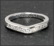 Brillant Eternity Ring 585 Gold mit 0,33ct Diamanten, Damen Weißgold Memory Ring